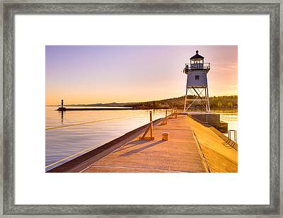 Breakwater Lights Redux Framed Print