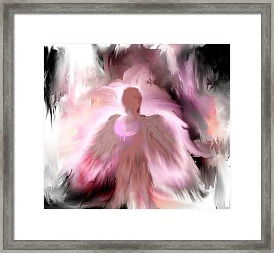 Framed Print featuring the painting Breast Cancer Angel by Jessica Wright