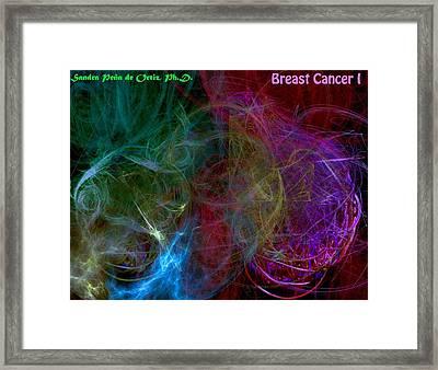 Breast Cancer I Framed Print by Sandra Pena de Ortiz