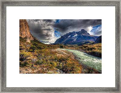 Breath Of Cold Framed Print by Roman St