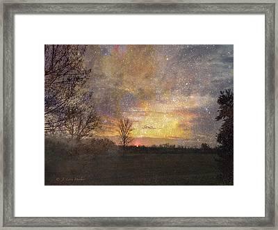Breath Of Fresh Air Sunrise Framed Print by J Larry Walker