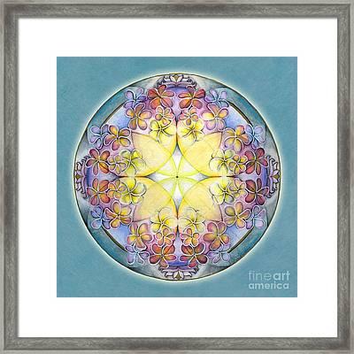 Breath Of Life Mandala Framed Print by Jo Thomas Blaine
