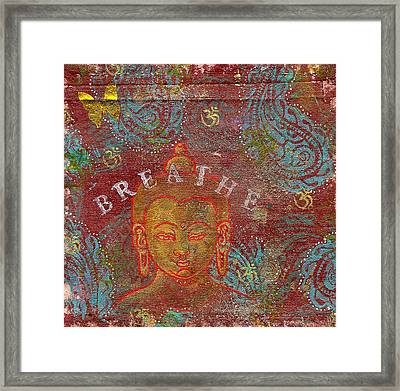 Breathe Buddha Framed Print by Jennifer Mazzucco