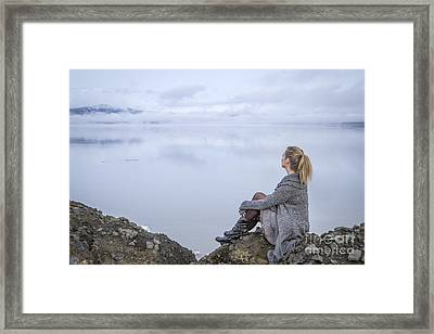 Breathe Framed Print by Evelina Kremsdorf