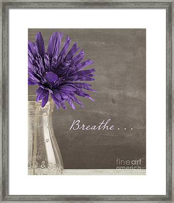 Breathe Framed Print by Juli Scalzi