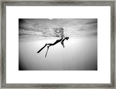 Breathe 1 Framed Print by One ocean One breath
