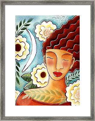 Breathing In The Moment Framed Print by Elaine Jackson
