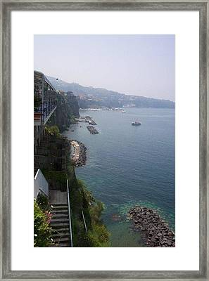 Breathtaking Amalfi Coast In Italy Framed Print