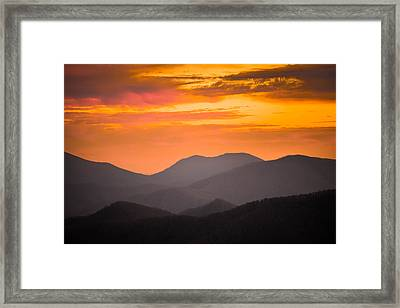 Breathtaking Blue Ridge Sunset 3 Framed Print
