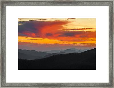 Breathtaking Blue Ridge Sunset Framed Print