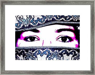 Breathtaking Eyes Framed Print