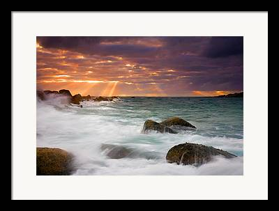Heavenly Sunrise Framed Prints