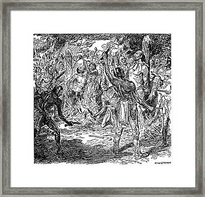Brebeuf & Lalemant, 1649 Framed Print by Granger