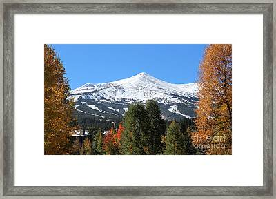 Breckenridge Colorado Framed Print by Fiona Kennard