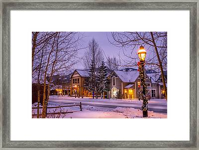 Breckenridge Colorado Framed Print