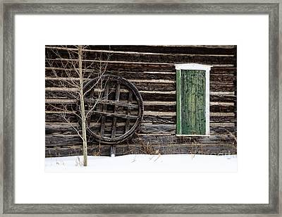 Breckenridge History In The Snow Framed Print