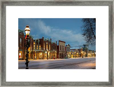 Breckenridge Main Street Framed Print