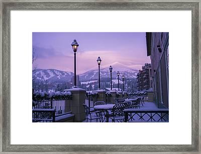 Breckenridge Village Framed Print
