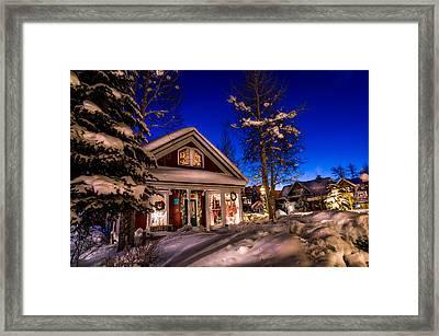 Breckenridge Winter Wonderland Framed Print by Michael J Bauer
