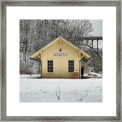 Brecksville Cuyahoga Valley Train Station Framed Print by Patricia Januszkiewicz