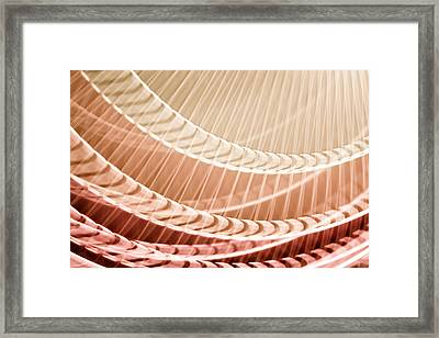 Breeze II - Neutral Colored Abstract Framed Print