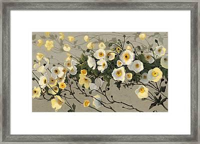 Breezes Gray Crop Framed Print by Shirley Novak