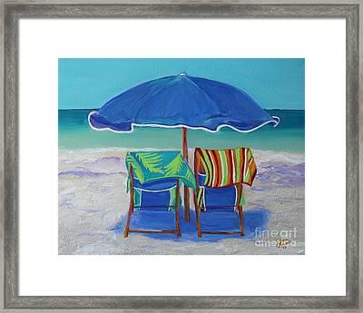 Breezy Beach Day Framed Print