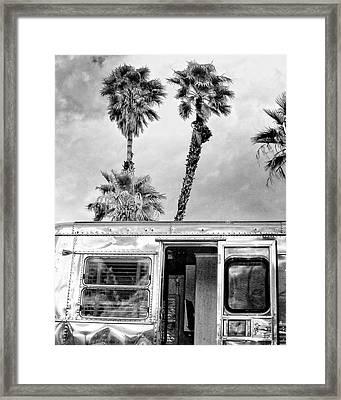 Breezy Bw Palm Springs Framed Print by William Dey