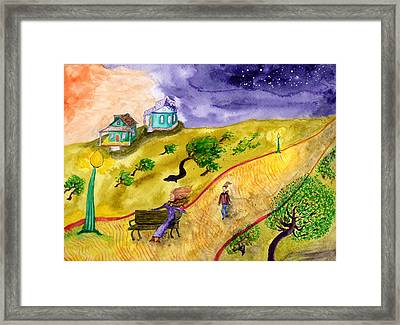 Breezy Dusk In The Park Framed Print