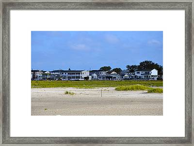 Breezy Point As Seen From Beach August 2012 Framed Print