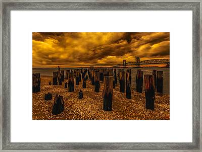 Breezy Point Sunset Framed Print