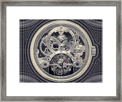 Breguet Skeleton Framed Print