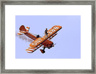 Breitling Wingwalker Framed Print by Paul Scoullar
