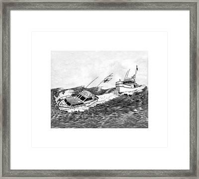 Navigation Contest Bremerton Heavy Weather Framed Print by Jack Pumphrey