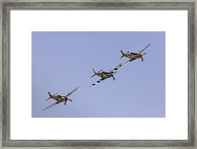 Bremont P-51 Formation Framed Print
