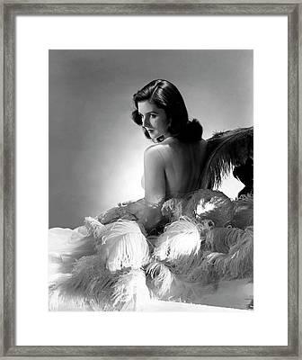 Brenda Frazier Framed Print by Horst P. Horst