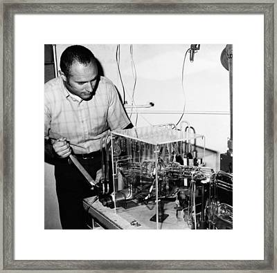 Brent Dalrymple, Us Geologist Framed Print by Science Photo Library