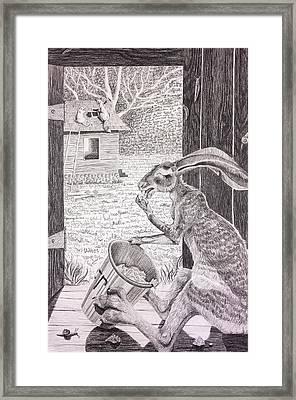 Brer Rabbit Nibbles Up All The Butter Framed Print