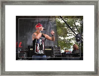 Bret Making Music Framed Print
