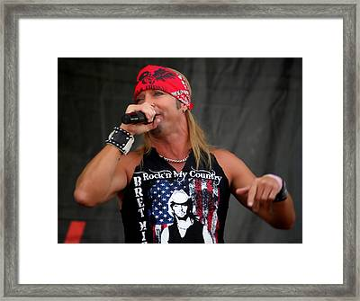 Bret Michaels In Philly Framed Print by Alice Gipson
