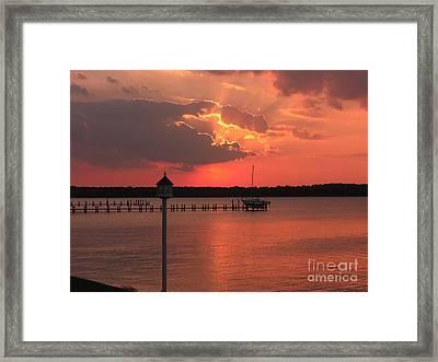 Breton Bay Sunset Framed Print by Deborah Smolinske
