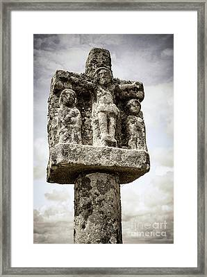 Breton Stone Cross Framed Print by Elena Elisseeva
