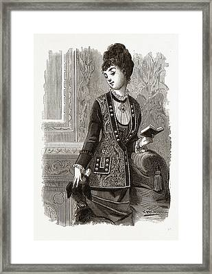 Breton Veste, 19th Century Fashion Framed Print