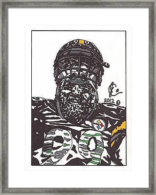 Brett Keisel 2 Framed Print