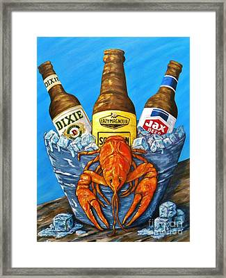 Brew Bug Framed Print by JoAnn Wheeler