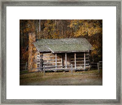 Brewer Cabin In Fall - Autumn Landscape Framed Print by Jai Johnson