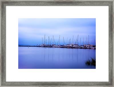 Brewer Yacht Yard At Cowesett Rhode Island Framed Print by Lourry Legarde