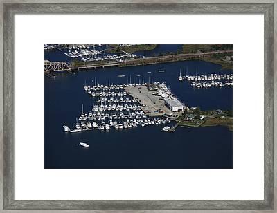 Brewer Yacht Yard, Mystic Framed Print by Dave Cleaveland