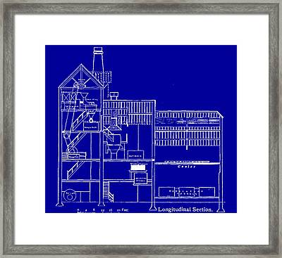 Brewery Blueprint Framed Print by