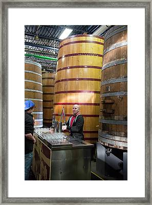 Brewery Tour Framed Print by Jim West